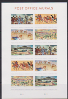 USA, 2019, MNH, ART, POST OFFICE MURALS, PLANES, HORSES, DEER, MOUNTAINS, LANDSCAPES, SHEETLET OF 2 SETS - Art