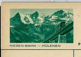 Carte Neuve Illustrée N° 137 - 039 A -- NIESEN-BAHN -- MÜLENEN - Enteros Postales
