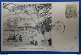 100 NOUVELLE CALEDONIE 1906 CARTE DE NOUMEA PLACE DES COCOTIERS POUR PARIS - New Caledonia