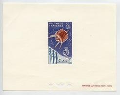 UIT 1865 1965 Télégraphe Satellite Polynésie PA 10 épreuve De Luxe - Poste Aérienne