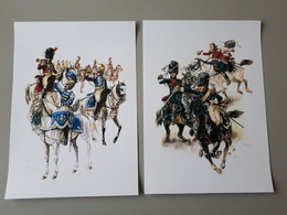 Affiches : Trompette Et Tambour De Carabiniers 1810-1814 Et Carabiniers Waterloo - Documenten