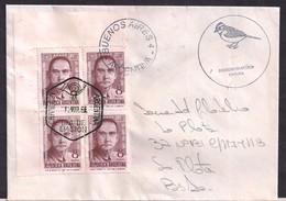 Argentina - 1966 -Lettre - Docteur SUN YAT-SEN Fondateur De La République De Chine - Célébrités