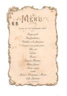 Menudu Dîner De 23 Septembre 1896 Avec Contours En Dorure Relief - Menú