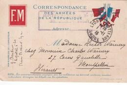 CORRESPONDANCE FRANCHISE MILITAIRE (dil440) - Guerre 1914-18