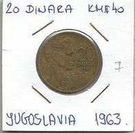 D11 Yugoslavia 20 Dinara 1963. KM#40 - Joegoslavië