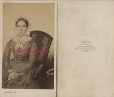 CDV Joli Portrait D'une Femme-photo D'un Tableau Peint-photographe Lebour à Paris - Fotos