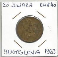 D10 Yugoslavia 20 Dinara 1963. KM#40 - Joegoslavië