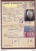 Fixe Timbre Fiscal Etat Français Carte D'identité Cachet Francisque Police Régionale D'état Hyères 16 Juillet 1943 - Fiscaux