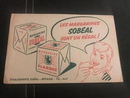 A BUVARD Ancien MARGARINE SOBEAL FLANDRE BÉTHUNE PAS DE CALAIS - Blotters