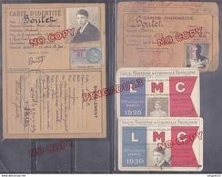 Fixe Archive élève école Santé Militaire Médecine Carte D'identité Timbre Fiscal Ligue Maritime Coloniale Française - Documenten