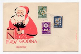 YUGOSLAVIA, FDC, 25.11.1966. COMMEMORATIVE ISSUE: NEW YEAR, FATHER CHRISTMAS - FDC