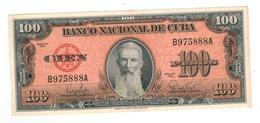 Cuba 100 Pesos 1959  AUNC. - Cuba