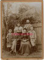 Scène De Famille Au Jardin-3 Générations Vers 1890-anonyme- Format 13 X 18cm - Fotos