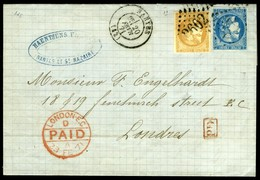 France. Maury #43.I, 46.II. Cover Sent From Nantes. - 1871-1875 Ceres
