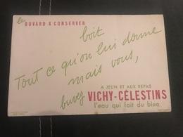 A BUVARD Ancien EAU VICHY CÉLESTINS - Buvards, Protège-cahiers Illustrés