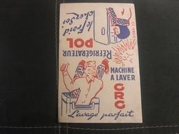 A BUVARD Ancien RÉFRIGÉRATEUR POL  MACHINE À LAVER CRG - Blotters