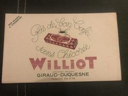 A BUVARD Ancien CHICORÉE WILLIOT GIRAUD DUQUESNE - Blotters