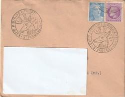 1947 - Enveloppe Lettre - EXPOSITION HISTOIRE ET PHILATELIE  -St FARGEAU - Pour Elbeuf - Yvert & Tellier  718 A & 679 - Cachets Commémoratifs