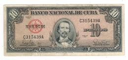 Cuba 10 Pesos 1960,  ABNC, VF. - Cuba