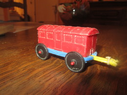 CN46 Wagon En Plastique, Made Italie, 8 Cm - Andere Sammlungen