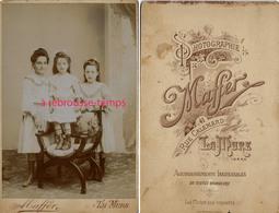 Grand CDV-(CAB) 3 Jeunes Filles Jolies En Habits Du Dimanche-photo Maffer Rue Calemard - La Mure - Fotos