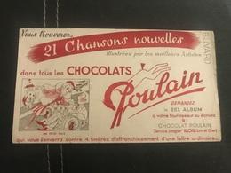A BUVARD Ancien CHOCOLAT POULAIN BLOIS - Blotters