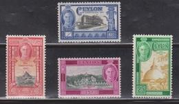 CEYLON Scott # 296-9 MH - KGVI & New Constitution - Ceylon (...-1947)
