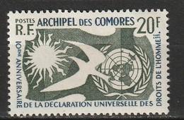 Comores N° 15 * Déclaration Universelle Des Droits De L'homme - Unused Stamps
