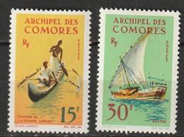 Comores N° 33, 34 * Bateaux - Unused Stamps