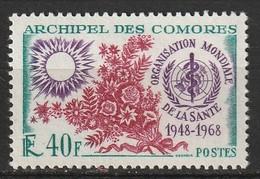 Comores N° 46 * Organisation Mondiale De La Santé OMS - Unused Stamps