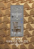Blok 211** 150ste Verjaardag Van Henry Van De Velde 4365/66** / Chandelier + Chaise - Kandelaar + Stoel - Blocks & Sheetlets 1962-....