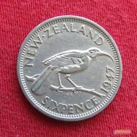 New Zealand 6 Six Pence 1947 KM# 8a  Nova Zelandia Nuova Zelanda Nouvelle Zelande - New Zealand