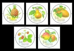 Russia 2003 Mih. 1113/17 Flora. Gifts Of Nature. Fruits And Berries (with Smell) MNH ** - Unused Stamps