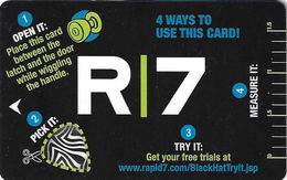 R7 Black Hat 2001 Convention Hotel Room Key Card - Cartes D'hotel