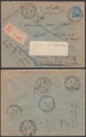 Belgique 1918 COB 141 SUR  Lettre Recommandée Vers L'Hôpital Militaire à Cabourg De St. Adresse..  (EB) DC6350 - WW I