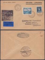 Belgique 1931 COB 320+pr30 SUR Lettre Vers Londres D'Anvers. Exposition Aerophilatelique.   (EB) DC6351 - Airmail