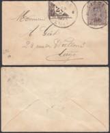 Belgique 1918COB 136 SUR ENVEL CARTE DE VISITE TAXE 1/2 20c Lettre Vers Liège .....   (EB) DC6358 - Covers
