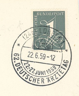 62. Deutscher Ärztetag 1959 - 24a Lübeck Hansestadt - Medizin
