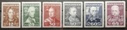 Autriche 1935 / Yvert N°471-476 / * / Grands Chefs Militaires - 1918-1945 1st Republic
