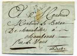 89 LA PALUD   39x10  / Dept Du Vaucluse / 1811 - 1801-1848: Vorläufer XIX