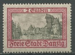 Danzig 1925 Kran Und Lange Brücke 213 Mit Falz - Danzig