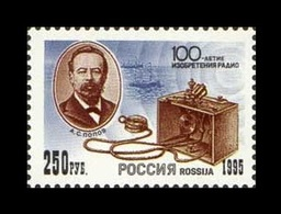 Russia 1995 Mih. 434 Invention Of Radio. Physicist Alexander Popov MNH ** - Unused Stamps