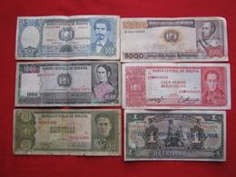 Bolivia Lot 6 Notes - Alla Rinfusa - Banconote