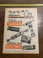 PUB PUBLICITE CHEQUE TINTIN CHEWING GUM TARZAN MANUCO MARSEILLE - Vecchi Documenti