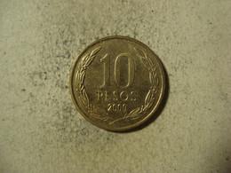 MONNAIE CHILI 10 PESOS 2000 - Chile