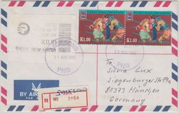 Papua New Guinea - Jacksons 21.8.97 Luftpost Einschreibebrief Olympia Boxen - Papua Nuova Guinea