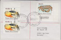 Papua New Guinea - 2x0,65+0,21t Krabben Brief Goroka - Springe 12.4.97 - Papua Nuova Guinea