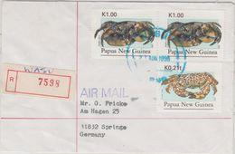 Papua New Guinea - Wasu 27.8.96 Luftpost Einschreibebrief Krabben - Papua Nuova Guinea