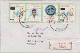Papua New Guinea - Kieta 25.9.95 Einschreibebrief Peter To Rot Pope John Paul II - Papua Nuova Guinea