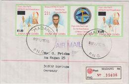 Papua New Guinea - Madang 22.9.95 Einschreibebrief Peter To Rot  - Papua Nuova Guinea